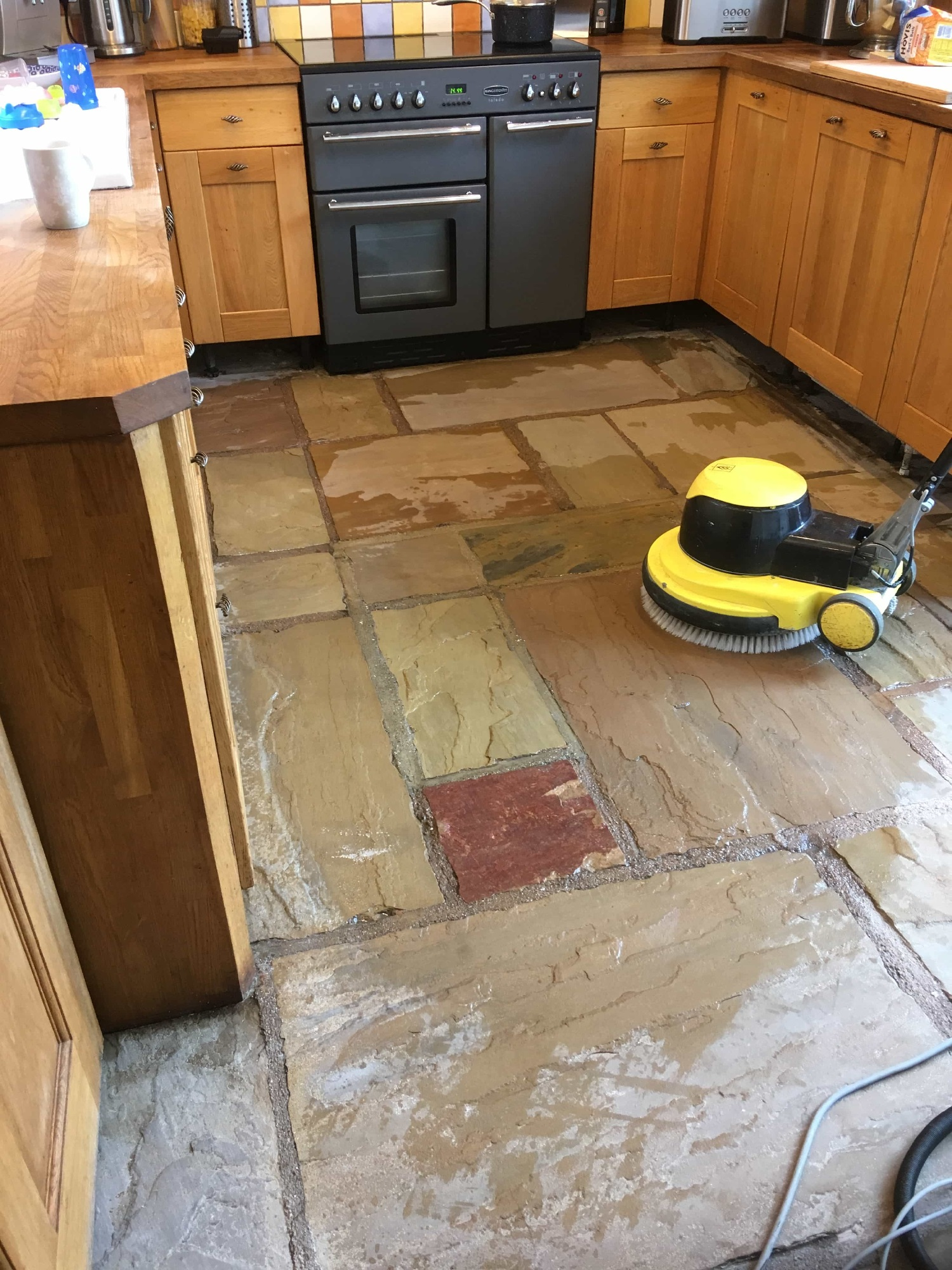 Cleaning Sandstone Flagstones