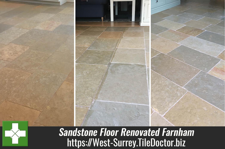 Sandstone-Tiled-Kitchen-Floor-Renovation-Farnham